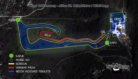 Hegyi Drift verseny / Hill climb Drit (Touge) pálya 1