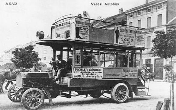 Az aradi MARTA autóbusz (1909)